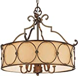 Minka Lavery 4236-288, Atterbury, 5 Light Chandelier with Shade, Deep Flax Bronze
