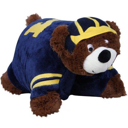 ines Pillow Pet (Michigan Wolverines Ncaa Applique)
