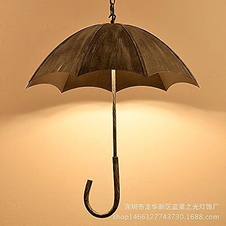 gzedg paraguas Vintage Lámparas Loft creativo viento industrial y antiguo hierro forjado Cafe Restaurante Presso el