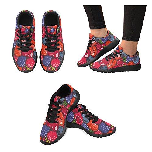 Mujer Lona de Zenzzle Para de Negro Zapatillas Running Negro fFInTqY