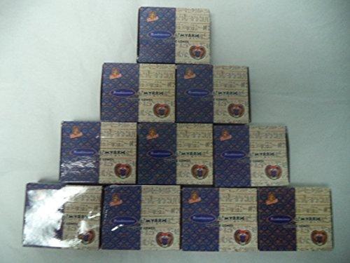 - Kamini Incense Cones: Frankincense and Myrrh - 10 Packs of 10 = 100 Cones