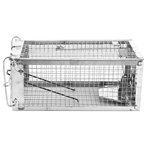 Rat Trap-Single Door Rat Cage Mice Rodent Repeller Catch Bait Hamster Mouse Trap (Repeller Single)
