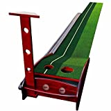 HMX Golf Putting Mat Premium Wooden Putting Green—-9.84FT and 11.48FT are Available(Balls and Putter are not included)