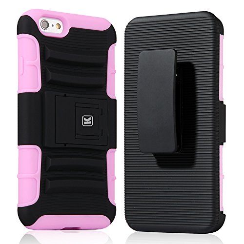 HTC One M9 Plus Case - KAYSCASE Heavy-Duty Belt Clip Dual-layer ArmorHolster Hybrid Cover Case for the HTC M9 Hima Ace Plus Smart Phone 2015 Version (Lifetime Warranty) (Pink)