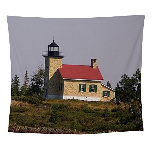Copper Harbor Lighthouse (CafePress - Copper Harbor Lighthouse - Wall Tapestry)
