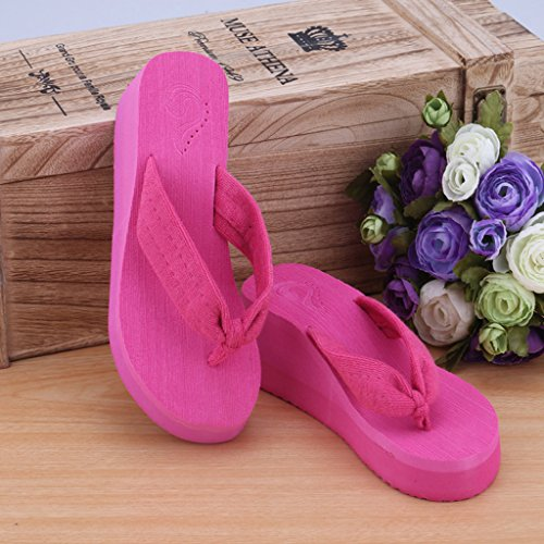 infradito PINK40 JAGETRADE pantofole donne perizoma estate Pink38 Hot piattaforma morbido Hot Black40 sandali spiaggia fWqAvrWX