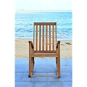 Amazon Com Safavieh Outdoor Living Collection Shasta Rocking Chair