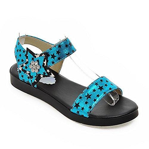 BalaMasa Womens Studded Mini-Size Cold Lining Urethane Flats Sandals ASL05117 Blue KWj8v
