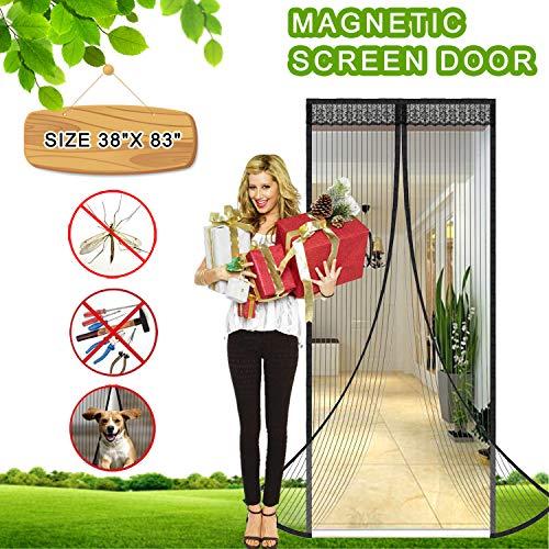 - Magnetic Screen Door Full Frame Magnetic Door Screen with Heavy Duty Mesh Curtain Pet Friendly Bugs Out Screen Door Insect Out Screen Door Mosquito Magnetic Door Screen Door Net (FITS 36
