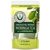Kuli Kuli Energizing Herbal Moringa Tea, Lemongrass, 15 Count, Caffeine-Free Tea with Antioxidants, No Artificial Flavors or Ingredients, Light and Refreshing Tisane