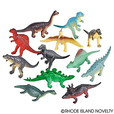 Dozen Small Toy Dinosaurs: 2.5 inch Plastic Toy Dino Figures: Toys & Games