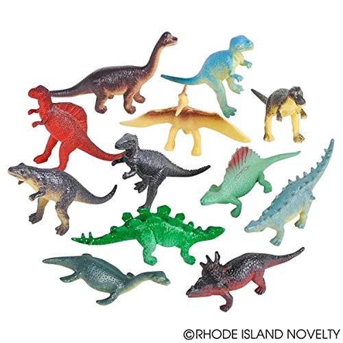 Dozen Small Toy Dinosaurs: 2.5 inch Plastic Toy Dino Figures ()