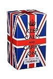 Keep Calm and Carry On Tea Carton Box, Afternoon Blend Tea (40 Bags, 125g, 4.4oz)