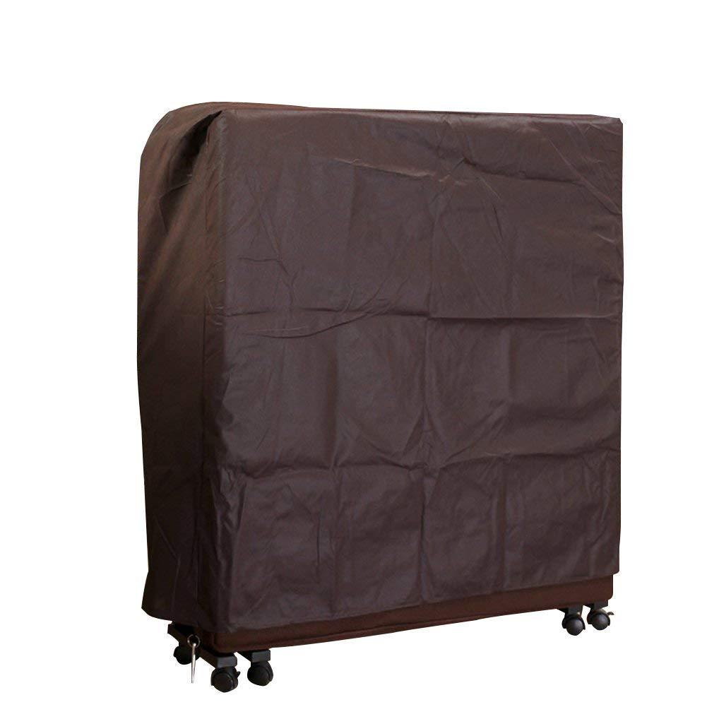 QEES Funda plegable antipolvo para cama, duradera, gruesa, tela no tejida, funda de almacenamiento exclusiva para hostelería cama plegable fácil de usar JJZ12, café, 80*30*95 CM ZhuoLang
