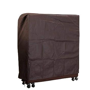 QEES Funda plegable antipolvo para cama, duradera, gruesa, tela no tejida, funda