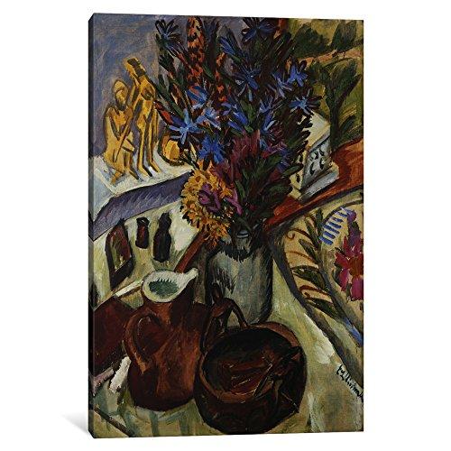 (iCanvasART 1 Piece Still Life with Jug and African Bowl; Stilleben Mit Krug Und Afrikanischer Schale, C.1910-12 Canvas Print by Ernst Ludwig, 12 by 8