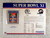 super bowl 32 patch - Super Bowl XI (1977) - Official NFL Super Bowl Patch with complete Statistics Card - Oakland Raiders vs Minnesota Vikings - Fred Biletnikoff MVP