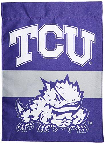 Bsi Products Ncaa Banner - BSI NCAA Texas Christian Horned Frogs 2-Sided Garden Flag