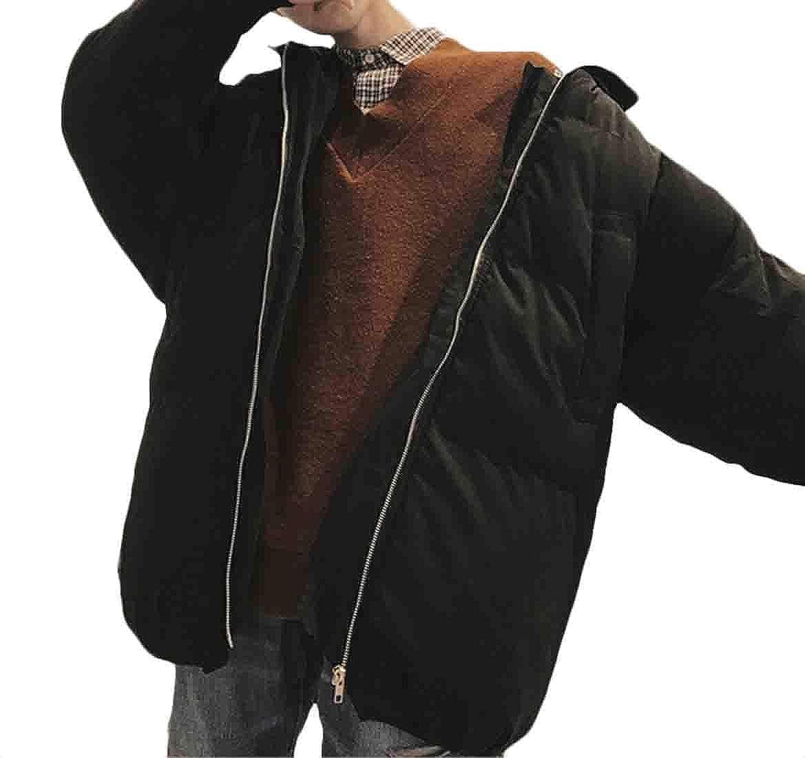 XQS Mens Winter Lightweight Packable Down Jackets Warm Outwear Puffer Coat