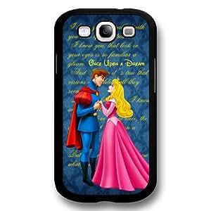 Classic Disney Cartoon Sleeping Beauty Aurora Hard Plastic Phone Case Cover for Samsung Galaxy S3(i9300) - Black wangjiang maoyi