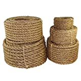 Twisted Manila Rope 1/2 inch - SGT KNOTS - 3 Strand Natural Fiber Rope - Multipurpose Heavy Duty Utility Cord - Moisture and Weather Resistant - Commercial, Industrial, Outdoor, Home Decor (600 feet)