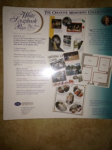 The Creative Memories Collection White Scrapbook Refill Pages 12'' X 12'' (2004 Discontinued ORIGINAL SIZE) by Creative memories (Image #1)