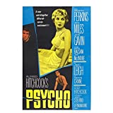 Old Tin Sign Classic Horror Psycho Classic Vintage Movie Poster