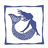 Celebrate the Home Nautical 3-Ply Paper Cocktail Napkins, Mermaid, 20 Count