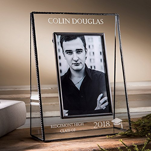J Devlin PIc 319-57V EP500 Personalized Graduation Picture Frame For High School or College Graduate Gift Class of 2018 5x7 Vertical Photo Frame Personalized Graduation Frames