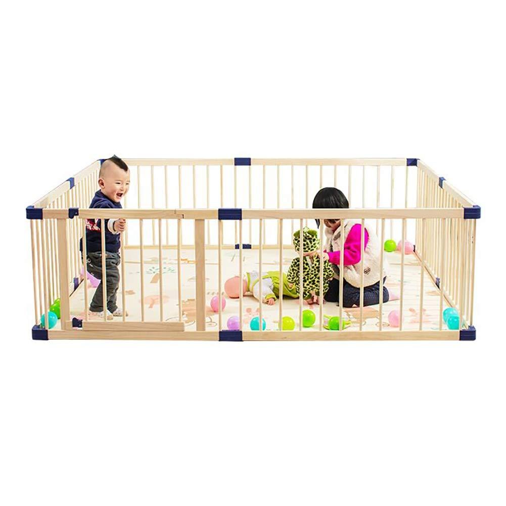ベビーサークル 安全扉付きベビーベビーサークルウッドフレーム、ペットと子供用の子供用プレイフェンス、屋内と屋外の遊び場、複数のサイズ (Size : 160x160cm) 160x160cm  B07V6YXX1N