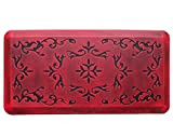 Licloud Anti-fatigue Mat Non-toxic Kitchen Mat Floor Mat Comfort Mat (20x39x3/4-Inch, Antique Flower Red 1)