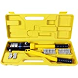 TMS® 16 Ton Hydraulic Wire Battery Cable Lug Terminal Crimper Crimping Tool 11 Dies