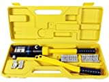 TMS Crimper-WL-YQK-300 16 Ton Hydraulic Wire Battery Cable Lug Terminal Crimper Crimping Tool 11 Dies