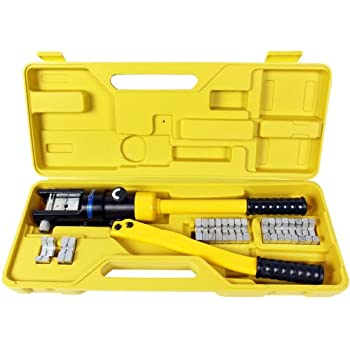 cordless crimping tool best choice products 10 ton hydraulic wire battery cable lug