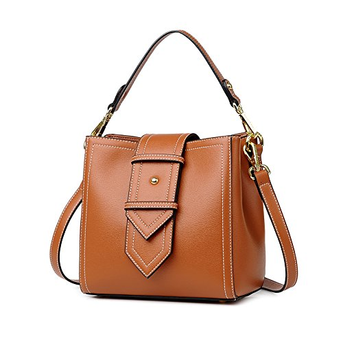 GUANGMING77 Handtasche Schulter Messenger Bag Schaufel Caramel color