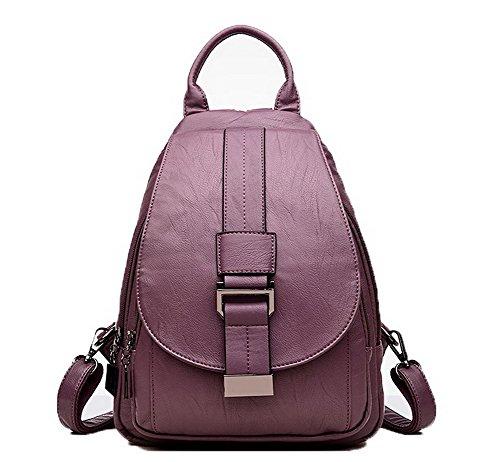 fourre Mode à tout Sacs bandoulière Cuir Pu Femme VogueZone009 Violet Zippers Sacs CCAFBP180959 zUw51t1q
