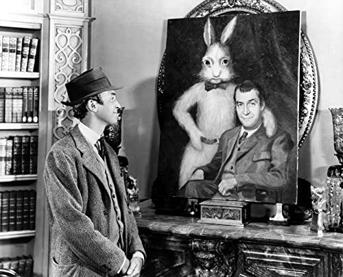 Erthstore 8x10 inch Photograph of James Stewart with Rabbit from Harvey