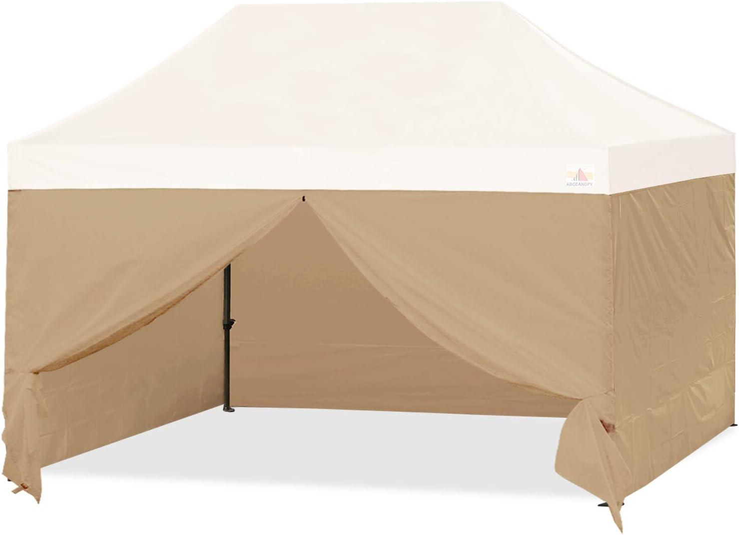 ABCCANOPY Sidewall Kit,Canopy Tent Side Walls 10x15,4 Walls ONLY (Beige)