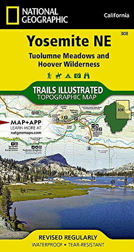 Yosemite NE: Tuolumne Meadows and Hoover Wilderness (National Geographic Trails Illustrated Map) (Best Hiking Trails In Yosemite Park)