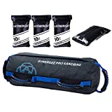 Synergee Pro Adjustable Fitness Sandbag with Filler Bags 10-40lbs Heavy Duty Weight Bag
