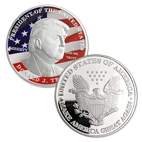(President Donald Trump Silver Commemorative Novelty Coin and Silver Challenge Coins (Silver))