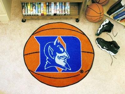 Fanmats Duke University Basketball Floor Mat w Official NCAA Licensing Duke Blue Devils Basketball Rug