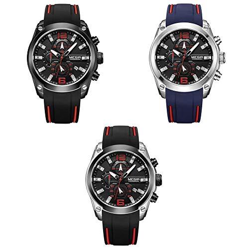 foreverwen Luminous Quartz Watch Fashion Casual Business Dress Wristwatch Waterproof Full Stainless Steel Analog Chronograph Three Time Keeping Indicator by foreverwen (Image #2)