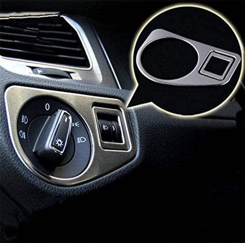 Embl/ème Trading Console centrale Tableau de Bord Fa/çade Cadre Rev/êtement mat aspect acier inoxydable voiture Accessoires