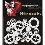 Bodyart Stencil A5 - Zahnräder