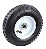 Tricam Farm and Ranch FR2000 Pneumatic Replacement Turf Tire for Hand Trucks and Lawn Carts, 8-Inch
