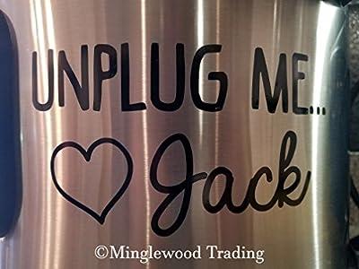 "UNPLUG ME LOVE JACK 5"" x 2.75"" Vinyl Decal Sticker - This Is Us - Crock Pot Crock-Pot - 20 COLOR OPTIONS"