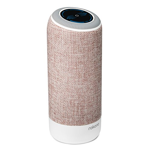 Rokono Accents Portable Bluetooth Speaker with Better Bass, 8-Hour Playtime, Touch Controls, Contemporary Mesh Fabric Cover & Built-in Mic - Dual-Driver Wireless Speaker for iPhone, Samsung etc by Rokono