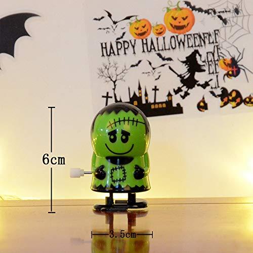 SHJNHAN Halloween Clockwork Gift Wind Up Bounce Toy Props Toy Jumping Pumpkin Monster (A)