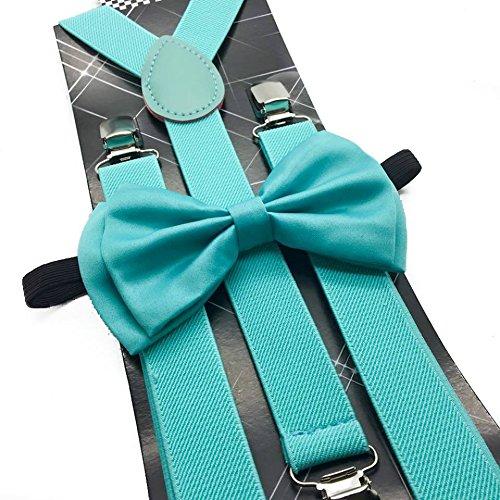 4everstore Unisex's Bow Tie & Suspender Sets (Mint -